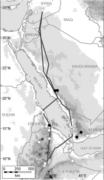 Migration route of the Eastern population discovered through satellite telemetry (Lindsell et al, 2009)